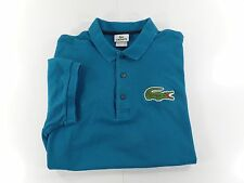 Lacoste Izod Mens Polo Golf Shirt Size 6 XL Blue Embroidered Big Logo