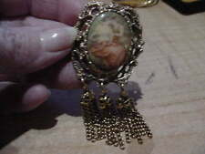 Vintage Cameo Portrait Pin Lovely