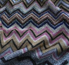 BNWT MISSONI Zigzag Lightweight Metallic Tasselled Poncho/KAFTAN sizes 6-8-10-12