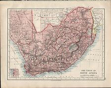 1914 MAP THE UNION OF SOUTH AFRICA CAPE OF GOOD HOPE ORANGE FREE STATE TRANSVAAL