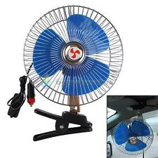 "8"" 12v Auto Car Truck Cooling Oscillating Fan with Clip Cigarette Lighter Plug 6"