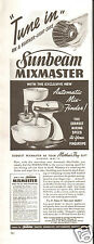 1940 Sunbeam Mixmaster Mix-Finder Mixer Print Ad