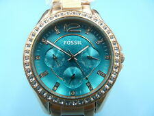 New Old Stock FOSSIL 38MM Daydate Rose Gold Quartz Men Watch