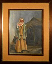 "Original Pat Rumrill Oil Painting Pseudo for ""Betty King"" Middle Eastern Man!!"