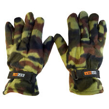 2 Pairs: Men's Nochilla Fleece Camouflage Gloves by Refael Collection