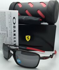 Polarized Scuderia FERRARI OAKLEY Sunglasses BADMAN OO6020-07 Carbon & Red Frame