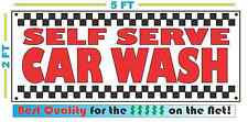 SELF SERVE CAR WASH Banner Sign NEW Larger Size Best Price for The $$$$$