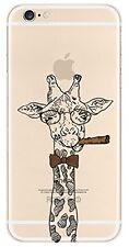 Coque gel souple incassable motif fantaisie pour iPhone 5 / 5S (Girafe)