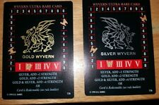 Wyvern Ultra Rare GOLD and SILVER dragon RARE TCG CCG US Games