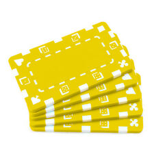5 ct Blank European-Style Poker Plaques Rectangular Chips Suits/Dice - Yellow