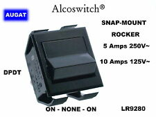 AUGAT alcoswitch snap-mount rocker switch DPDT on-off-on