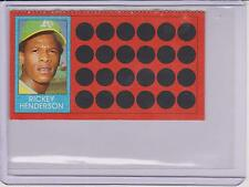1981 TOPPS SCRATCH OFF RICKY HENDERSON CARD #39 ~ MULTIPLES AVAILABLE ~  L@@K!!!
