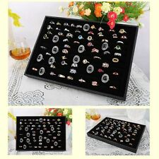 Ring Storage Ear Pin Clear Display Box Jewelry Organizer Holder Case 100 Slots
