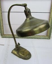 Antique Leviton Bronze Brass Table Desk Office Lamp * Industrial * Awesome Look