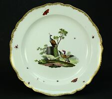 """* 1700's MEISSEN Fine Porcelain Star Mark Plate Charger - Birds & Insects 13"""""""