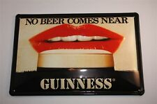 "3D Blechschild Guinness Bier 20x30 cm "" LIPPEN AM GLAS PINT "" Irland Tin Sign"