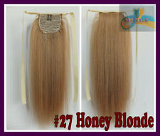 100g Deluxe Thick Ponytail One Hairpiece Clip IN Virgin Human Hair Extensions US