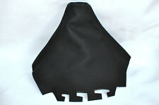 BLACK STITCHING FITS SEAT CORDOBA IBIZA MK3 6L 2002-2008 GEAR GAITER LEATHER