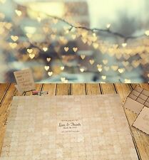 Wedding Jigsaw Puzzle Guestbook alternative, wooden, rustic, engagement, 308 pcs