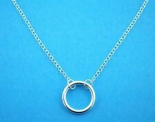 """925 Sterling Silver Infinity Karma Forever Circle Necklace 16""""  18"""" Adjustable"""