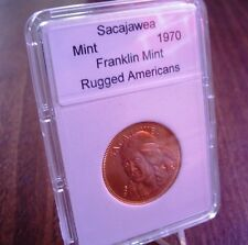 SACAJAWEA: Shoshone Tribe ~ Franklin Mint. RUGGED AMERICANS Coin - Slabbed Medal