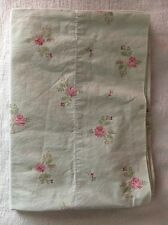 SIMPLY SHABBY CHIC Rachel Ashwell Green w Pink Floral Roses Pillowcase Bedding