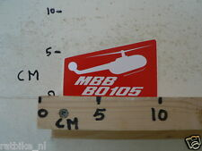 STICKER,DECAL MBB B0105 HELIKOPTER,HELICOPTER