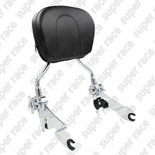 Good Adjustable Detachable Backrest Sissy Bar Chrome For Harley Touring 2009-UP
