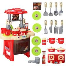 Kid Lights Sound Electronic Kitchen Cooking Role Play  Pretend Role Toy Play Set