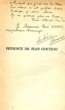 PRESENCE DE Jean COCTEAU ou LE SANG D'UN POETE avec ENVOI AUTOGRAPHE à H. ALEKAN
