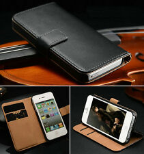 Luxury Leather Flip Cards Pocket Wallet Stand Case Cover For Apple iPhone 5G 5S