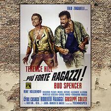 Manifesto Originale Più Forte Ragazzi - Bud Spencer, Terence Hill - 140x200 CM
