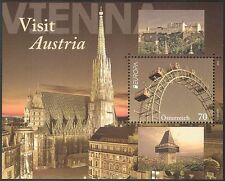 Austria 2012 Europa/Vienna/Ferris Wheel/Fair/Clock Tower/Church 1v m/s (n42240)