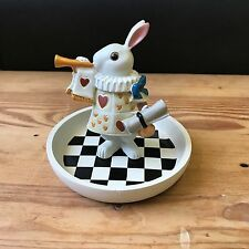 Alice in the Wonderland Theme White Rabbit Jewelery Tray Stand Figure Display