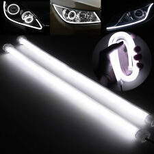2x30CM 12V LED White Car DRL DayTime Running Strip Light Flexible Soft Tube Lamp