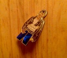 "VINTAGE 1980's MICHAEL JACKSON KING OF POP 1"" ENAMEL LAPEL PIN PINBACK"