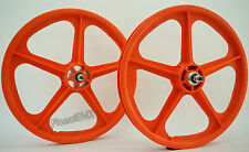 "Skyway 20"" TUFF WHEELS II SET old school bmx sealed Mags ORANGE Made in the USA"