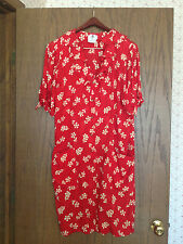 Women's Ungaro Red & White Floral Print Silk Dress Size 12/46