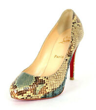 CHRISTIAN LOUBOUTIN Multi-Color Python Skin DECLIC Heels Pumps 38.5