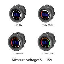 DC 12V-24V Car Motorcycle LED Digital Display Voltmeter Waterproof Meter Blue