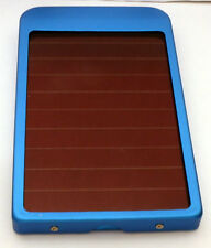 Phone / Tablet Portable 2600mAH Power Bank with Solar Panel Assist - Blue