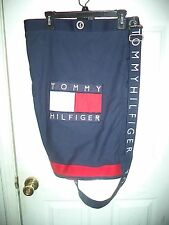 VINTAGE TOMMY HILFIGER DUFFLE GYM LAUNDRY BAG 90s color block classic spelledout