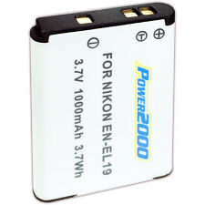 Power2000 EN-EL19 Rechargeable Battery for Nikon S4100 S4300 S100 S3100 S3300