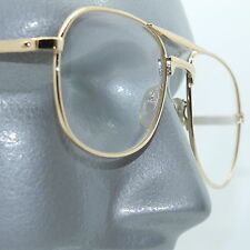 Reading Glasses +1.00 Lens Metal Aviator Frame Gold Double Bridge Man Size