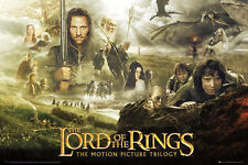 "THE LORD OF THE RINGS POSTER ""TRILOGY"" LICENSED ""BRAND NEW"" J R R TOLKEIN"