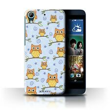 STUFF4 Back Case/Cover/Skin for HTC Desire 626/Cute Owl Pattern