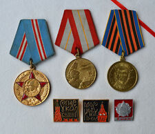 USSR Jubilee medal Lot of 6 Russian award Soviet Army pin badge Moscow Kremlin