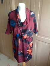 FANTASTIC KENNETH COLE SILK MULTICOLOURED SHORT SLEEVED DRESS UK SIZE 6 BNWT