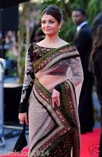 Bollywood Designer Sarees-Black Net Raavan Premier Party Wear Saree