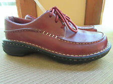 MERRELL Women's Size 5 / 35 Tetra Red Leather Lace Up Shoes